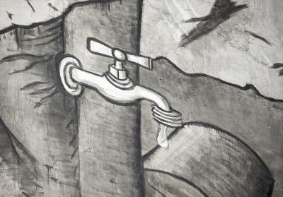 Pepelo iz požara boja za fresku - Mural u Brazilu oslikan pepelom iz šumskih požara