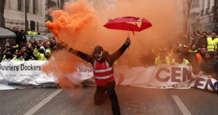 Drugi dan velikog štrajka u Francuskoj