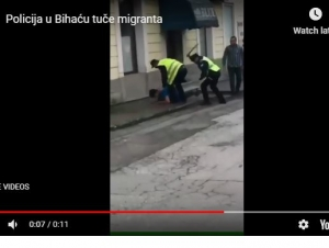 (Video) Policija pendreči migrante u Krajini