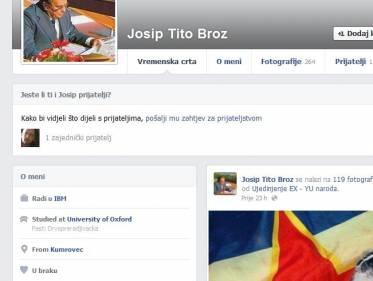 Tito najkloniraniji na Facebooku - Nizovi profila sa imenom Josip Broz Tito
