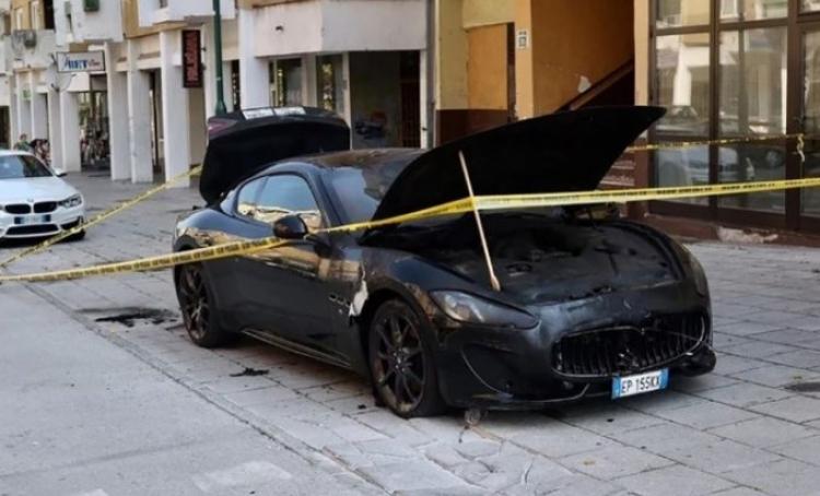 U Sarajevu zapaljen skupocjeni Maserati
