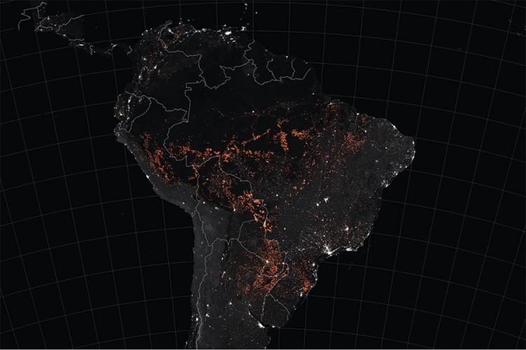 Zastrašujući NASA snimci razmjera požara iz Amazona