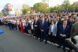 Počeo miting ispred Doma Narodne skupštine u Beogradu