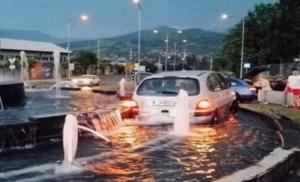 Zenica: Auto u fontani, povrijeđen vozač