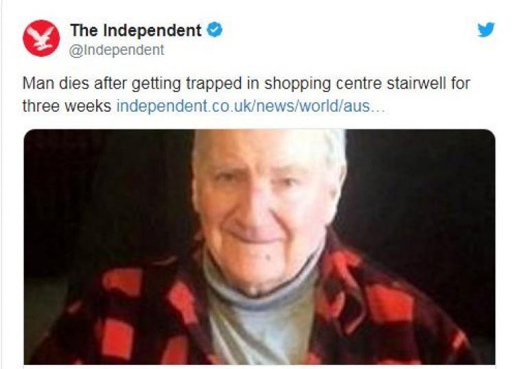 Muškarac zalutao u tržnom centru i nije mogao da izađe, umirao polako 7 dana