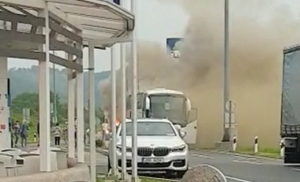 Kod Varaždina se zapalio autobus prepun putnika