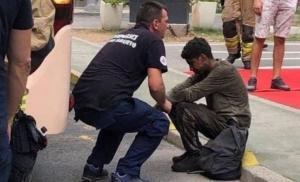 Migrant se sakrio ispod autobusa, izvukli ga vatrogasci