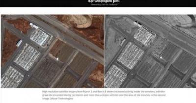 Objavljene snimke grobnica navodnih žrtava koronavirusa u Iranu