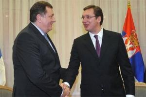 Dodik u Beogradu sa Vučićem