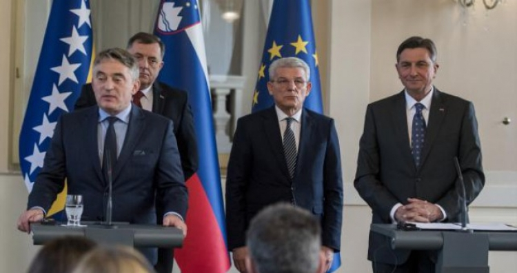Slovenija za širenje EU na Z. Balkan - Izjave nakon sastanka sa Pahorom sa Predsjedništvom BiH
