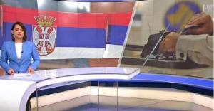 HRT izbore na Kosovu najavio uz srpsku zastavu