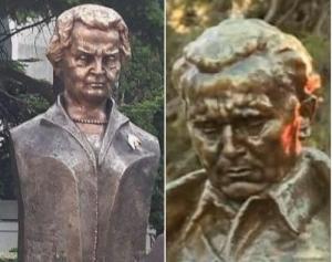 Spomenik Olbrajt kopija Tita - Društvene mreže ismijavaju gaf: Albanska bista Olbrajt više liči na Tita nego na nju