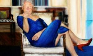 Slika Klintona u haljini u vili Epstajna