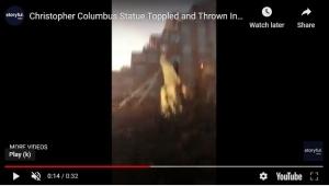 Kolumbova statua srušena i u Baltimoreu