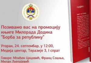 """""""Borba za Republiku"""": U Beogradu promocija knjige Milorada Dodika"""