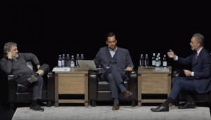 (video) Održan filozofski meč stoljeća, debata Žižeka i Petersona o sreći