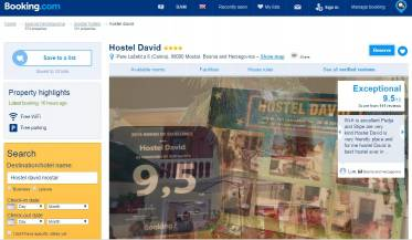 Hostel David Mostar is winner od Tourism Award - Best Hostel Ambient