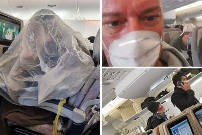 Panika na letu iz Italije: Putnici prekriveni najlonskim vrećama