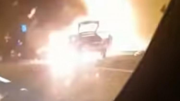 Video eksplozije automobila u tunelu u Hrvatskoj (VIDEO)