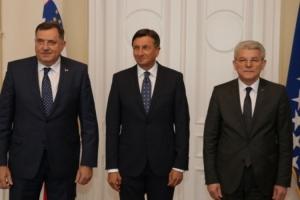 Dodik i Džaferović primili Pahora