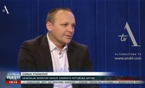 O zahtjevima SSRS: Goran Stanković, generalni sekretar Saveza sindikata Republike Srpske