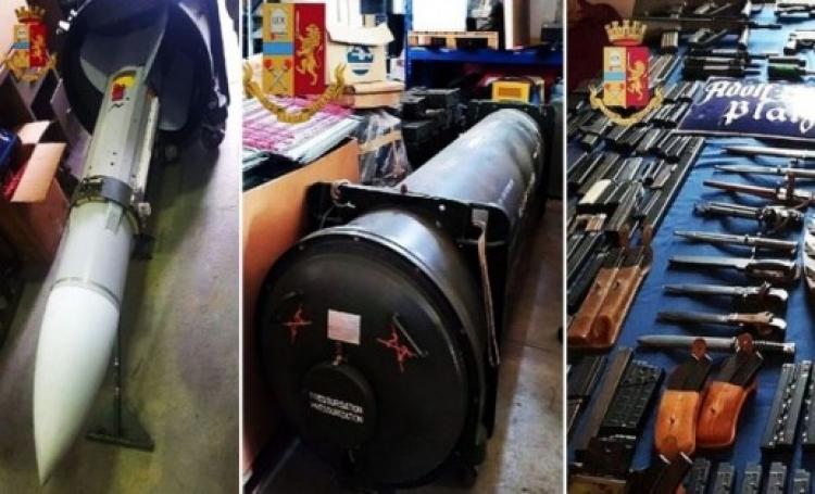 I rakete zrak-zrak: Neonaciti Italije u raciji ostali bez nevjerovatnog arsenala oružja (foto)