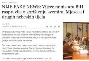 """Region ismijava BiH zbog """"istraživanja svemira"""""""