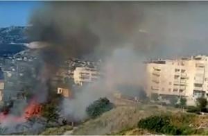 Požar uz splitski trgovački centar