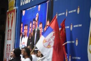 IPSOS: Nakon mitinga u Beogradu rejting Vučića porastao, SZS pao